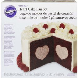 画像1: Heart Tasty-Fill Cake Pan Set