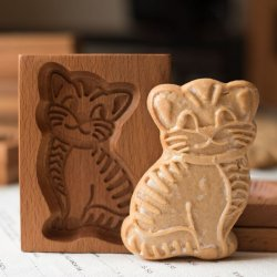 画像1: 猫*wood gingerbread cookie mold